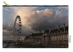 Sky Drama Around The London Eye Carry-all Pouch