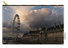 Sky Drama Around The London Eye Carry-all Pouch by Georgia Mizuleva