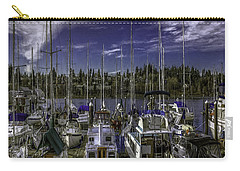Carry-all Pouch featuring the photograph Sky Embrace by Jean OKeeffe Macro Abundance Art
