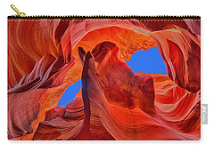 Carry-all Pouch featuring the photograph Sky Eyes In Antelope Canyon by Greg Norrell