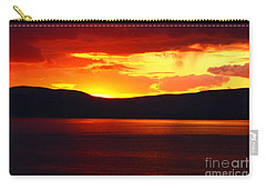 Sky Of Fire Carry-all Pouch by Aidan Moran