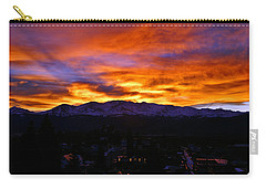 Carry-all Pouch featuring the photograph Sky Shadows by Jeremy Rhoades