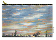 Carry-all Pouch featuring the painting Sky by Vesna Martinjak