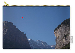 Skydiver Over Lauterbrunnen Carry-all Pouch