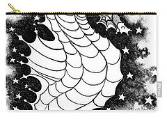 Carry-all Pouch featuring the digital art Skyhorse by Carol Jacobs
