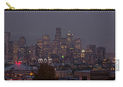 Skylines At Dusk, Seattle, King County Carry-all Pouch by Panoramic Images