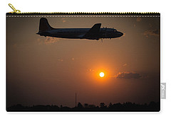Carry-all Pouch featuring the photograph Skymaster Sunset by Paul Job