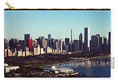 Skyscrapers At The Waterfront, Hancock Carry-all Pouch by Panoramic Images