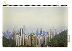 Skyscrapers In A City, Hong Kong, China Carry-all Pouch by Panoramic Images