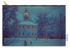 Sledding At The Old Round Church Carry-all Pouch