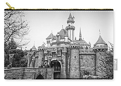 Sleeping Beauty Castle Disneyland Side View Bw Carry-all Pouch by Thomas Woolworth