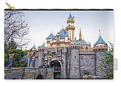 Sleeping Beauty Castle Disneyland Side View Carry-all Pouch by Thomas Woolworth
