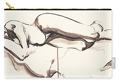 Sleeping Nude Carry-all Pouch by Melinda Dare Benfield
