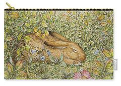 Sleepy Bunny Carry-all Pouch