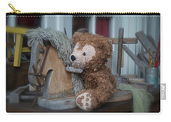 Carry-all Pouch featuring the photograph Sleepy Cowboy Bear by Thomas Woolworth