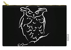 Sleepy Owl Carry-all Pouch by Go Van Kampen