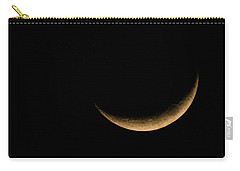 Slender Waxing Crescent Moon Carry-all Pouch by Katie Wing Vigil
