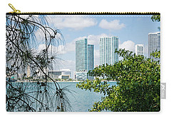 Slice Of Miami Skyline Carry-all Pouch by Robert VanDerWal