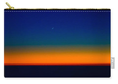 Carry-all Pouch featuring the photograph Slice Of Moon In The Night Sky by Don Schwartz