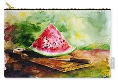 Sliced Watermelon Carry-all Pouch by Zaira Dzhaubaeva