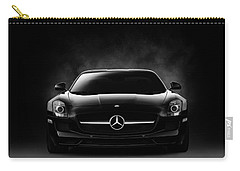Carry-all Pouch featuring the digital art Sls Black by Douglas Pittman