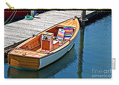 Carry-all Pouch featuring the photograph Small Dinghy Boat Art Prints by Valerie Garner