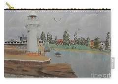 Small Lighthouse At Wollongong Harbour Carry-all Pouch by Pamela  Meredith