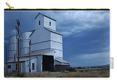 Carry-all Pouch featuring the photograph Small Town Hot Night Big Storm by Cathy Anderson