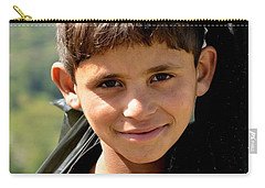 Carry-all Pouch featuring the photograph Smiling Boy In The Swat Valley - Pakistan by Imran Ahmed