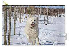 Carry-all Pouch featuring the photograph Smiling From Ear To Ear by Fiona Kennard