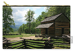 Smoky Mountain Cabin Carry-all Pouch by Marty Fancy