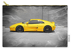 Carry-all Pouch featuring the photograph Smokin' Hot Ferrari by Kathy Churchman