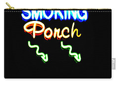 Smoking Porch In High Contrast Carry-all Pouch