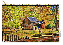 Smoky Mountain Homestead Carry-all Pouch by Kenny Francis