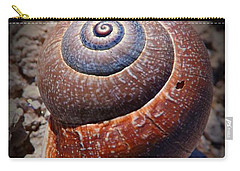 Carry-all Pouch featuring the photograph Snail Beauty by Clare Bevan