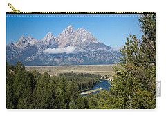 Carry-all Pouch featuring the photograph Snake River Overlook by Michael Chatt