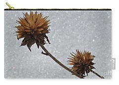 Carry-all Pouch featuring the photograph Snow And Thistles by Janice Westerberg