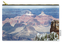 Snow At The Grand Canyon Carry-all Pouch by Laurel Powell