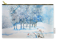 Snow Blizzard In The Grove  Carry-all Pouch