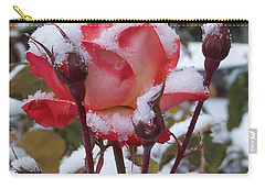 Snow Blooms Carry-all Pouch