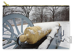 Carry-all Pouch featuring the photograph Snow Cannon by Michael Porchik