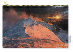 Snow Cap Sunset Carry-all Pouch