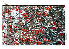 Snow- Capped Mountain Ash Berries Carry-all Pouch