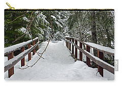 Snow Covered Bridge Carry-all Pouch