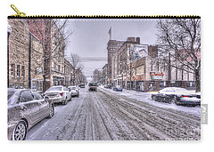 Snow Covered High Street And Cars In Morgantown Carry-all Pouch