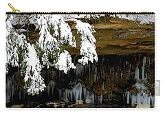 Snow Covered Pine Carry-all Pouch