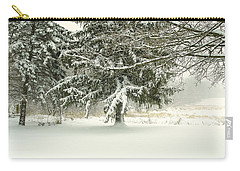 Snow-covered Trees Carry-all Pouch by Lars Lentz