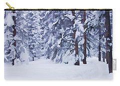 Snow-dappled Woods Carry-all Pouch by Don Schwartz