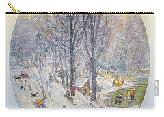 Carry-all Pouch featuring the painting Snow Day by Donna Tucker