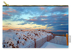 Snow Dunes At Sunrise Carry-all Pouch by Dianne Cowen